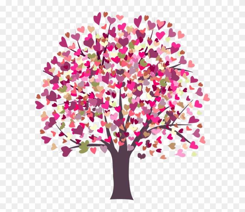 Arbre,tubes,png - Tree Heart Png Pink #727369