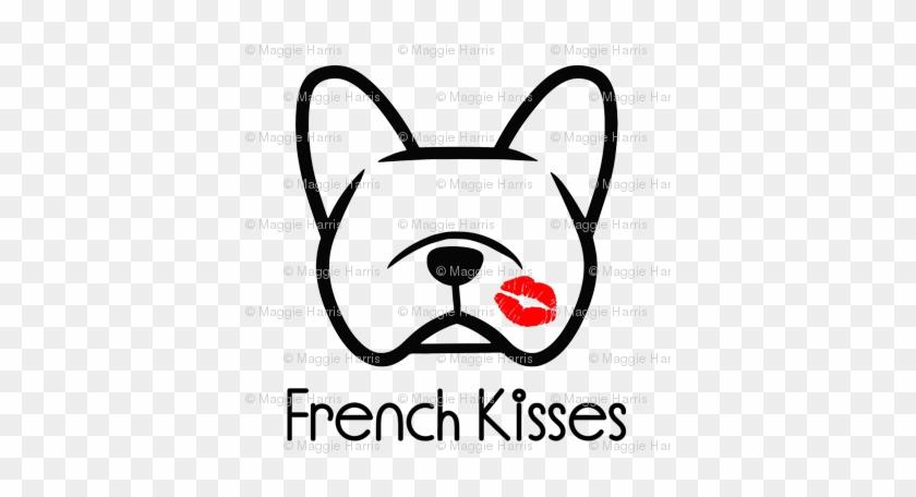 French Bulldog Kisses - French Bulldog Line Drawing #727422