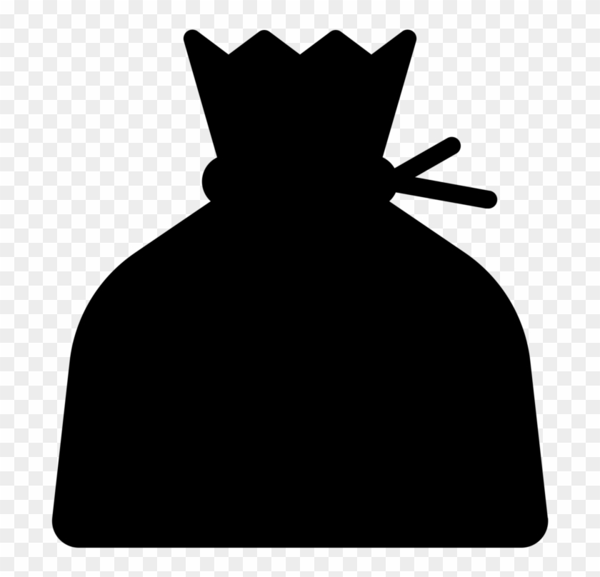 See Here Money Bag Clipart Black And White Hd Pictures - Clip Art #727769