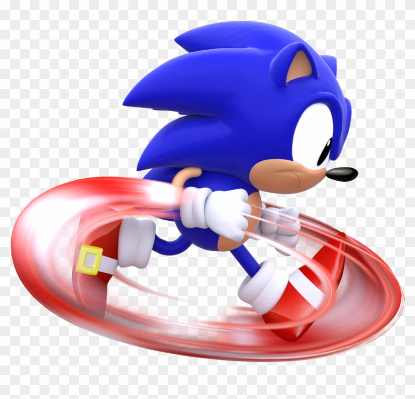 Classic Sonic Running By Modernlixes Art Free Transparent Png