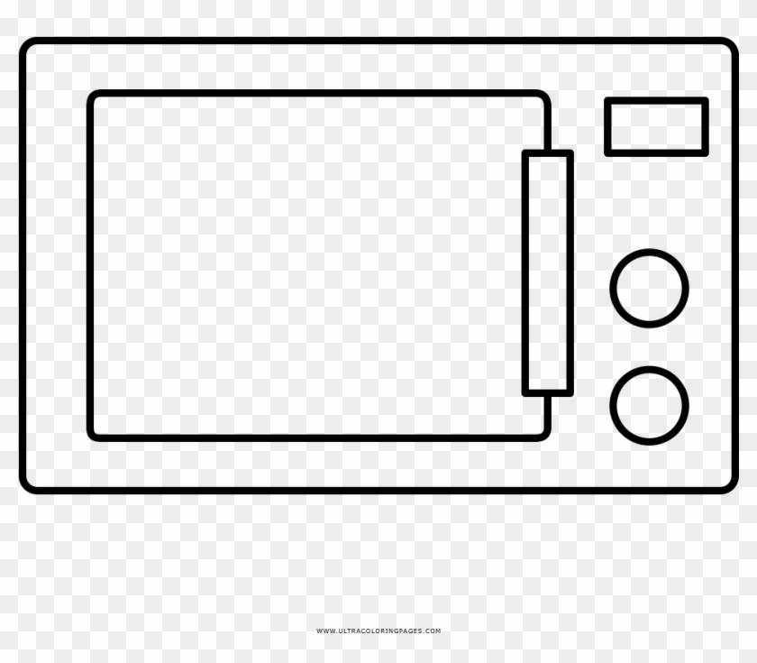 Microwave Coloring Page Ultra Coloring Pages Coloring - Imagenes De Un Microondas Para Colorear #729250
