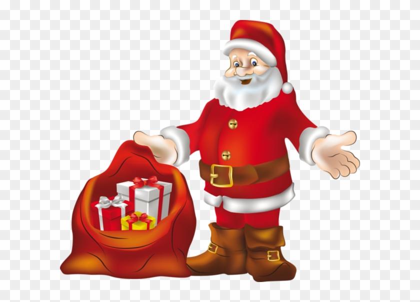 Natal - Christmas Tree With Santa Claus #730030