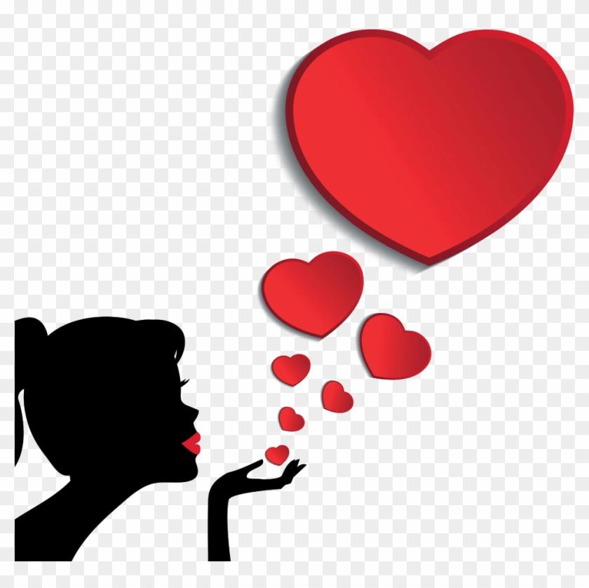 Картинки с сердечком и поцелуем