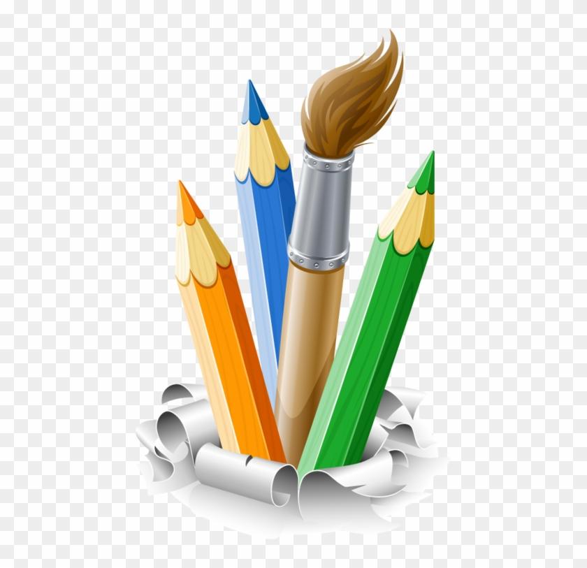 Crayons De Couleurs,articles D Ecole - School Articles Clipart #730659