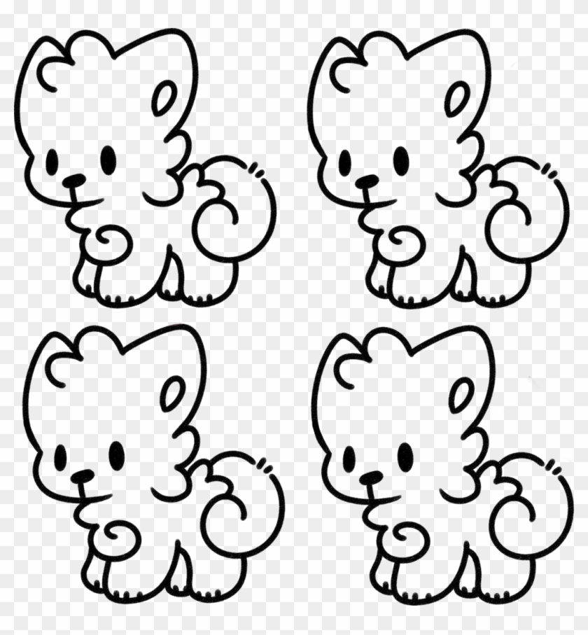 F2u Tiny Dog Lineart By Ronnieponnie F2u Tiny Dog Lineart Slumber Pup Base Anthro Free Transparent Png Clipart Images Download
