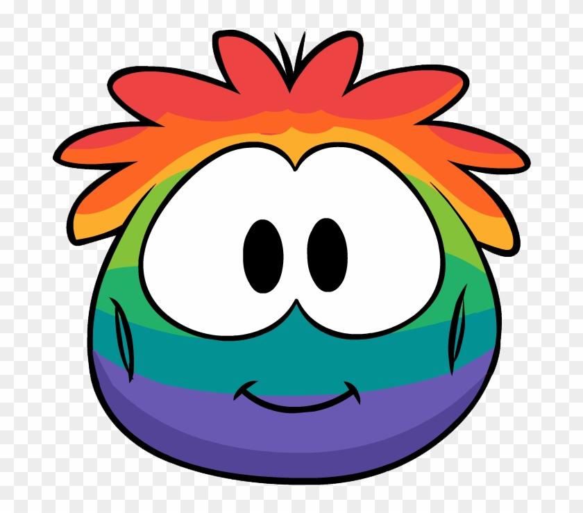Rainbow Puffle Costume Clothing Icon Id 4810 - Club Penguin Rainbow Puffle #731152