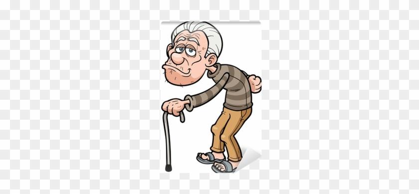 Vector Illustration Of Cartoon Old Man Wall Mural • - Alter Mann Comic #732063