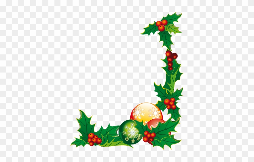 Png Christmas Decorations.Christmas Corner Floral Sticker Christmas Decoration