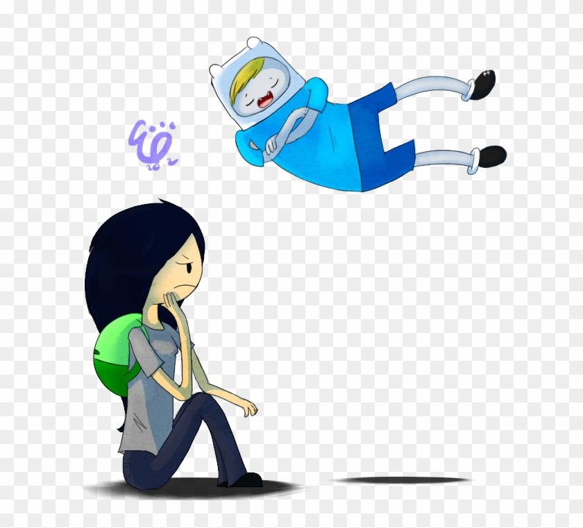 Finn The Vampire And Marceline The Human By Fluttertroll Adventure Time Vampire Finn Free Transparent Png Clipart Images Download