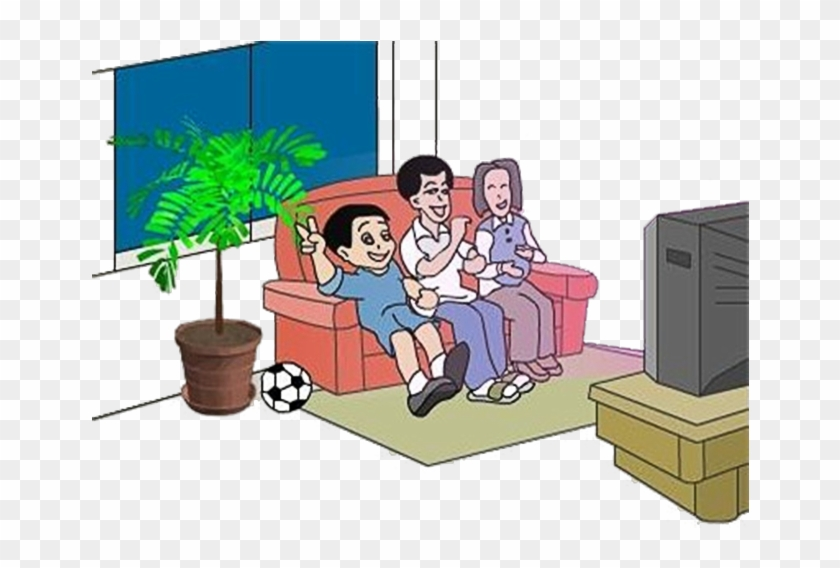 Television Cartoon Clip Art Cartoon Family Watching Tv Free Transparent Png Clipart Images Download