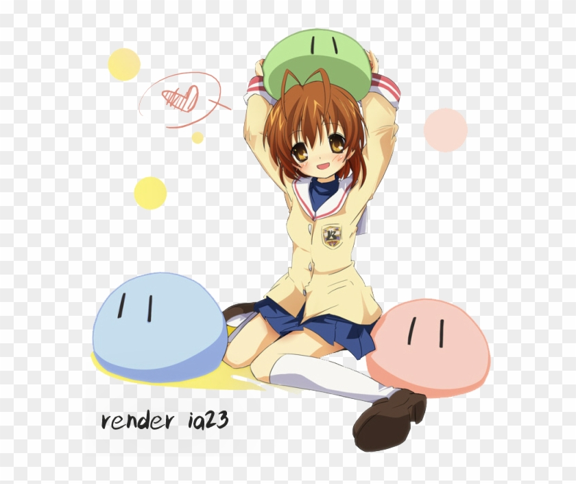 Nagisa Kawaii Dango By Ia23 Clannad Chibi Nagisa Kyou Fujibayashi Free Transparent Png Clipart Images Download