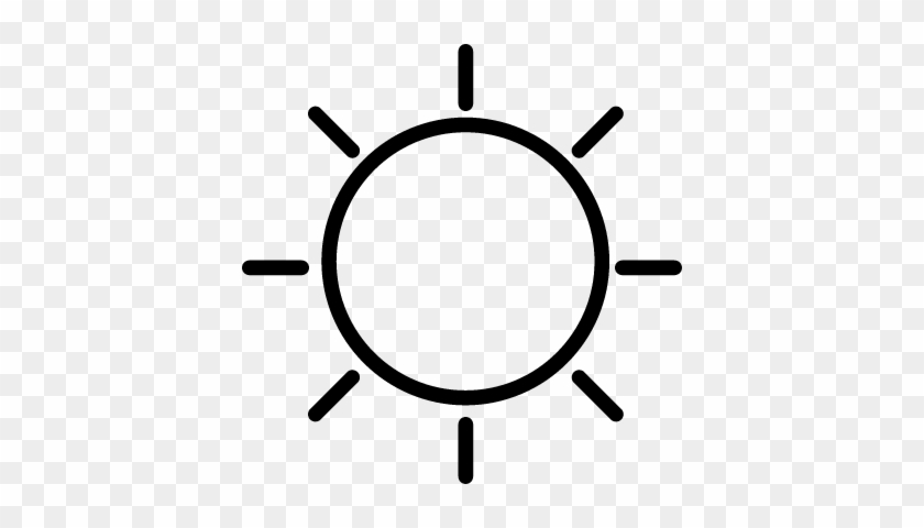 Sunny Day Weather Symbol Vector - Sunny Day Weather Symbol #734503