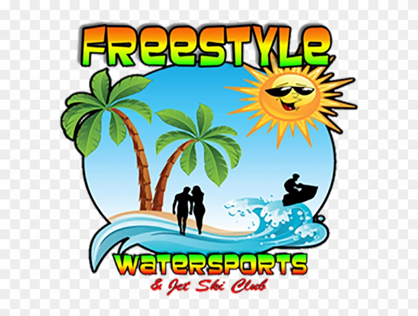 Freestyle Watersports - Palm Tree Beach Clip Art #735608