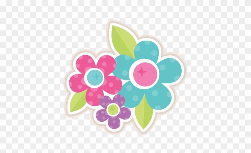 Flower Group Svg Scrapbook Cut File Cute Clipart Files - Scrapbook Flower Png Sticker #737075