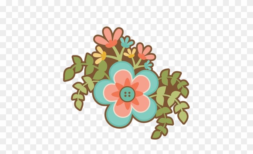 Flower Group Svg Scrapbook Cut File Cute Clipart Files - Flowers Silhouette Cut File #737083
