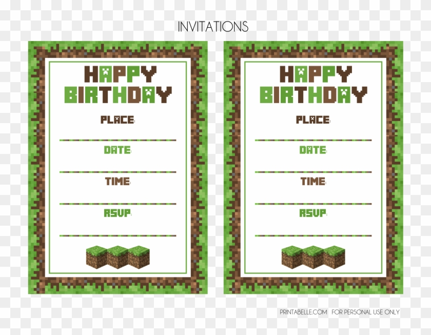Download The Minecraft Free Party Printables Here