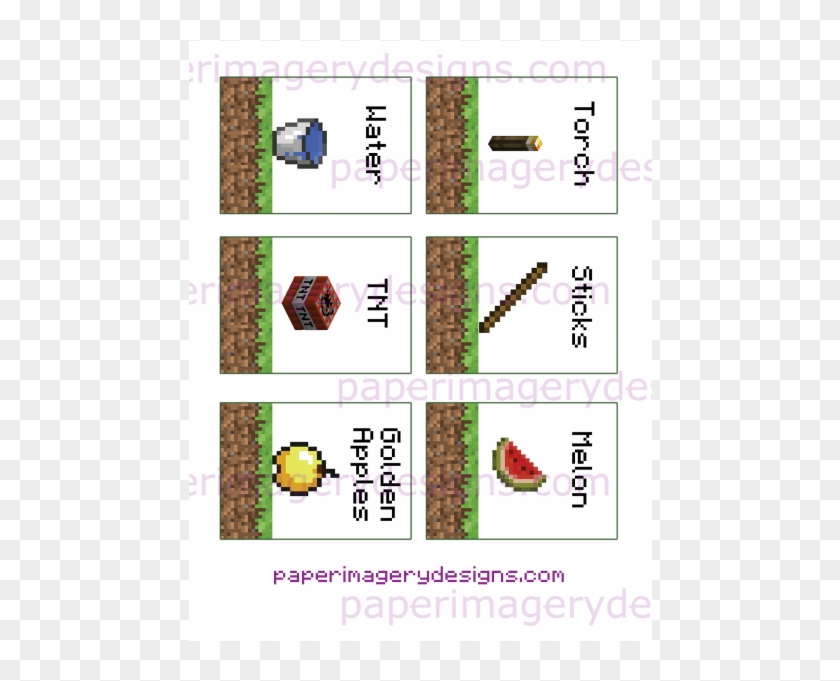 It is an image of Minecraft Free Printable Food Labels with regard to gold