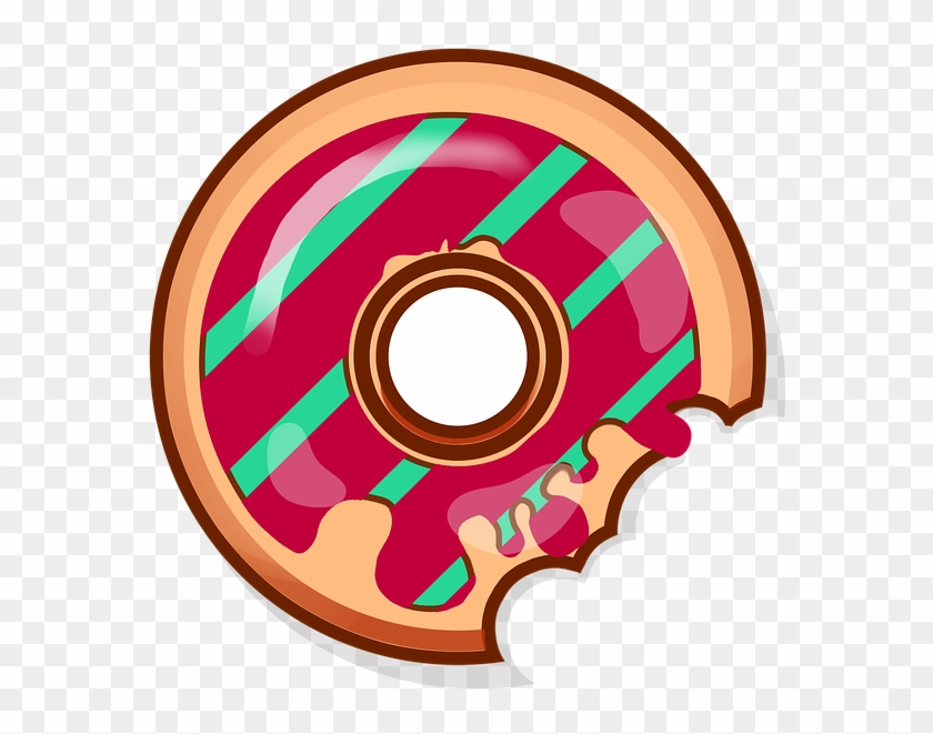 Donut Sweets Baking Food Tasty Bun Yummy Icon Animasi Donat