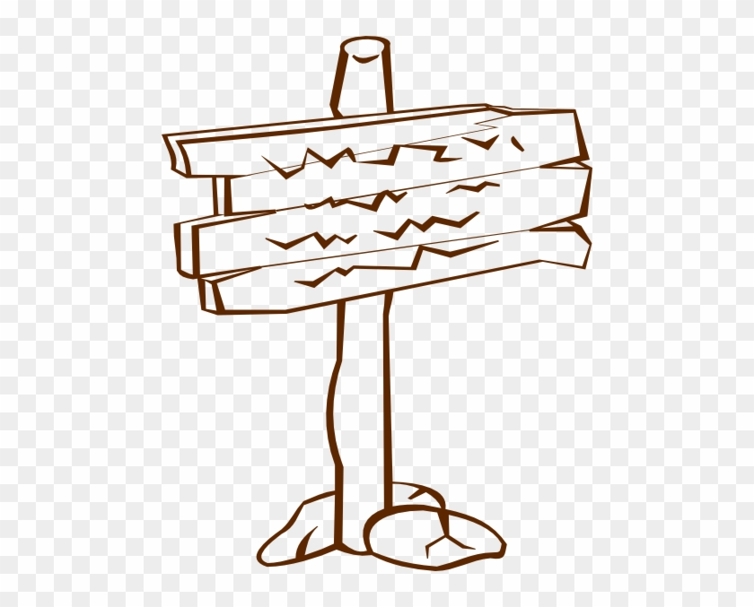 Wood Sign Clip Art At Clker Com Vector Clip Art Online, - Wooden Sign Clip Art #737417