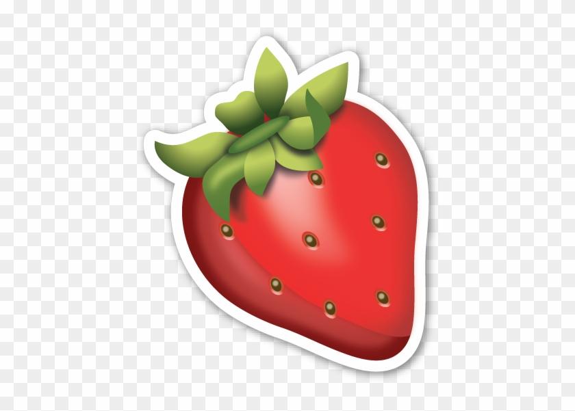 Strawberry Strawberry Emoji Sticker Free Transparent Png Clipart