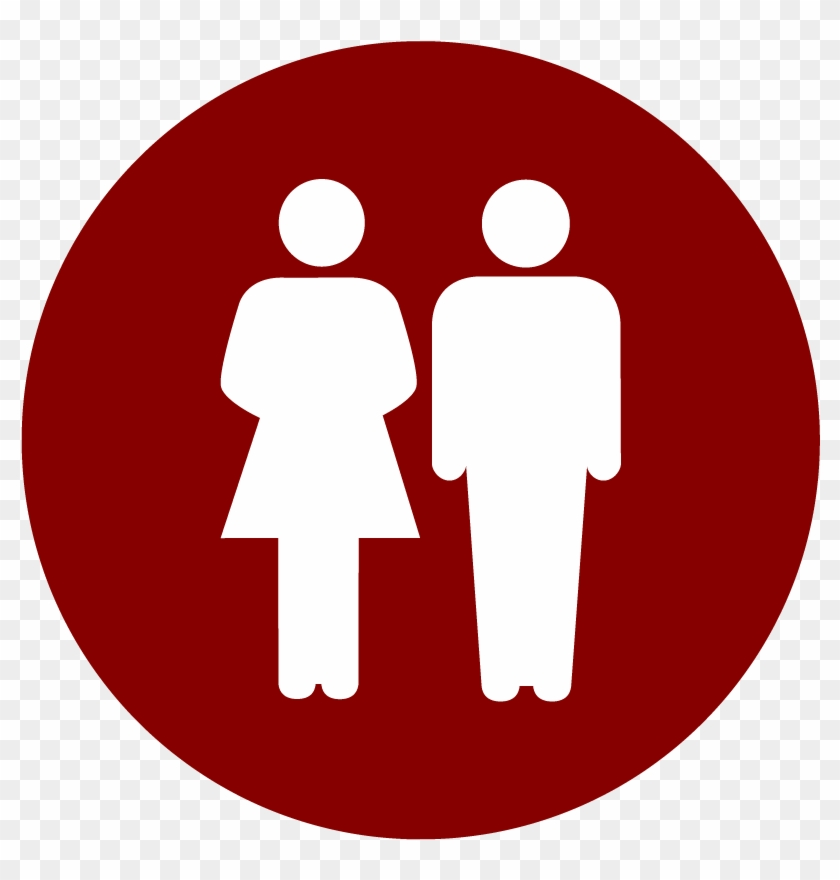 Couple's Membership - Toilet Icon White #738474