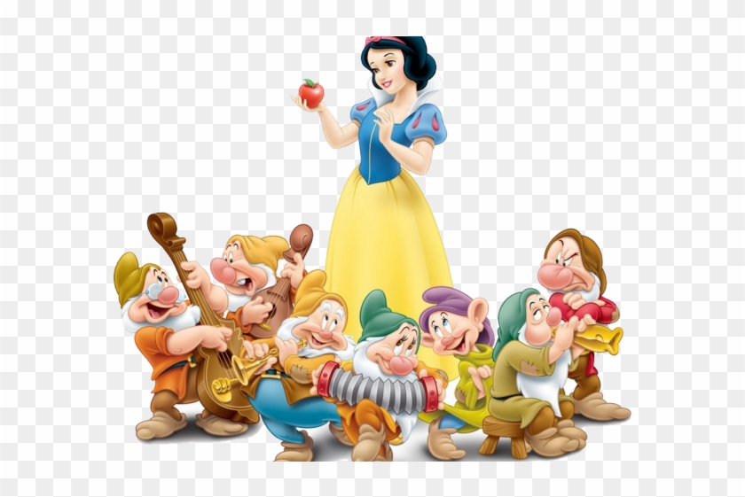 Snow White And The Seven Dwarfs Clipart House - Snow White With Seven Dwarfs #739097