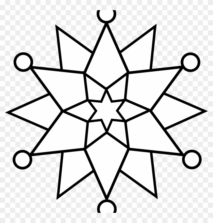 Christmas Mandala With Angels Coloring Page Fine Snowflake - Simple ...