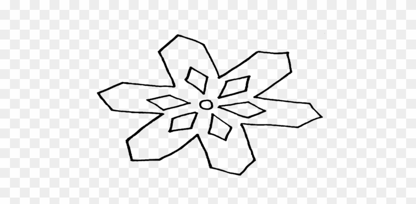 Frozen Coloring Pages Snowflake For Kids - Line Art - Free ...