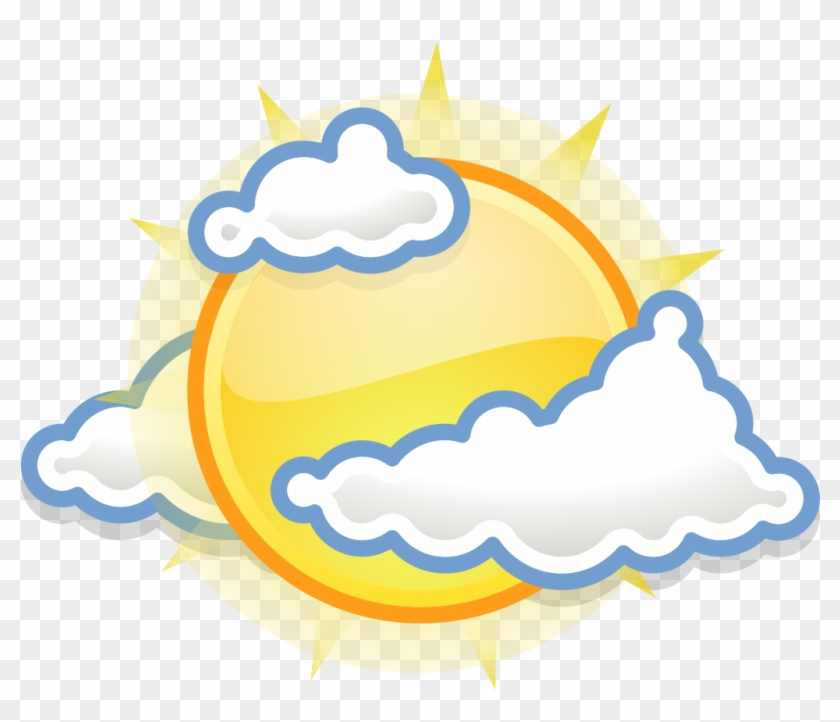 Gnome Weather Few Clouds - Scattered Clouds Weather Symbol #739876