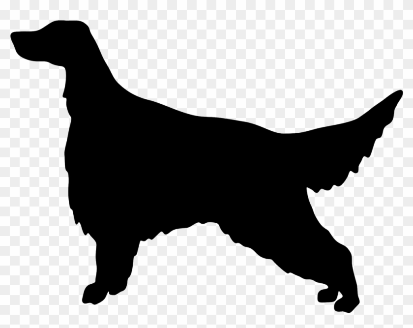 7al Irish Setter Silhouette Imprinted On A Peerless Dog Silhouette Golden Retriever Free Transparent Png Clipart Images Download