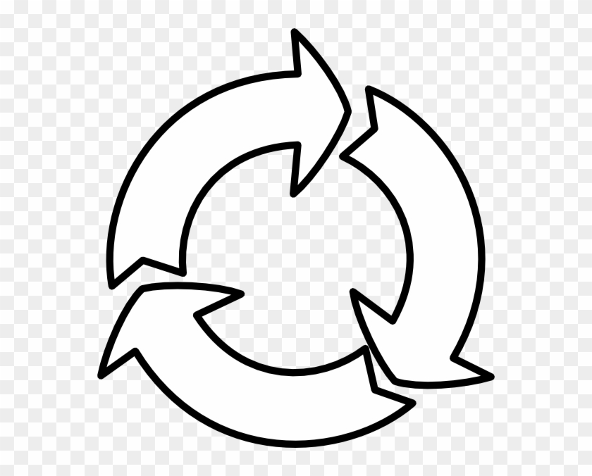 Reuse Cliparts - Reduce Reuse Recycle Symbol Circle #740775