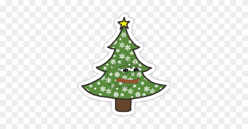 Sad Christmas Pepe - Xmas Tree #741198