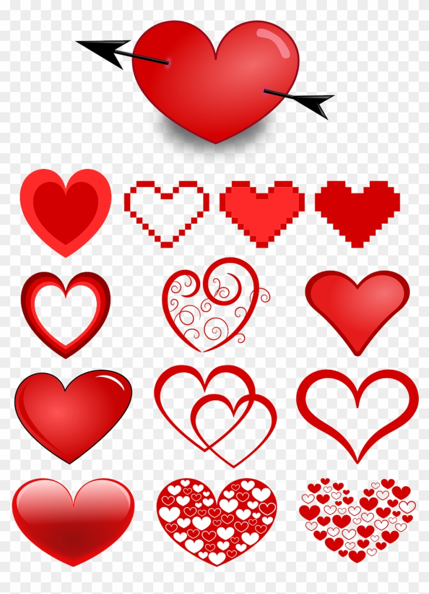 Heart Hearts Collection Of Hearts Png Image - Fancy Red Hearts Shower Curtain #741727