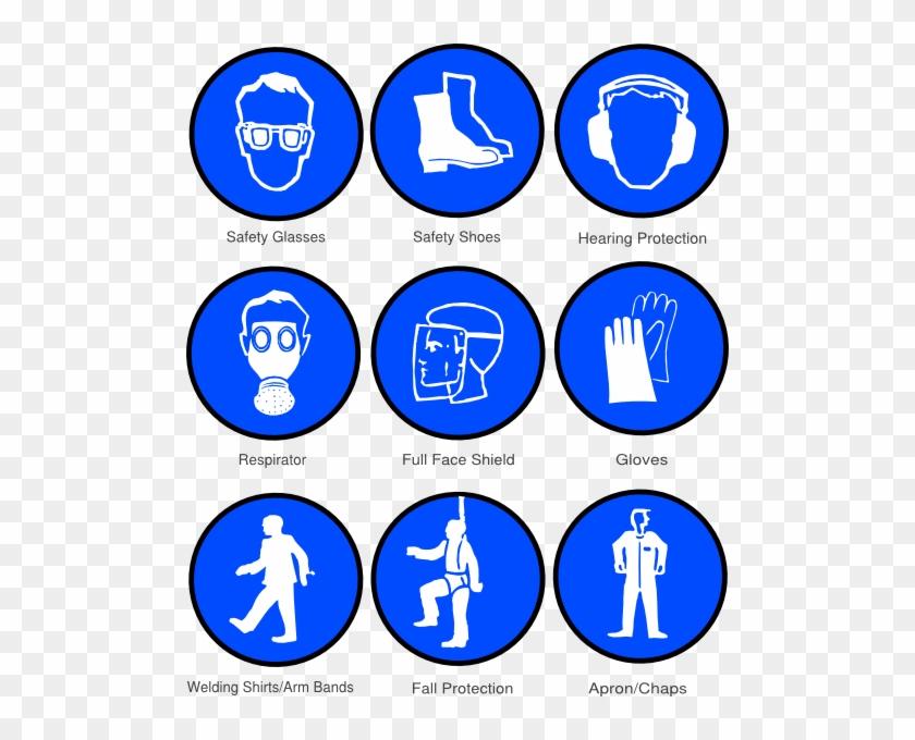 Ppe Symbols Clip Art At Clker - Personal Protective Equipment Symbols #742028