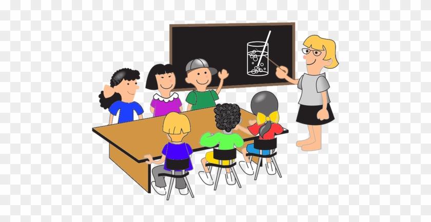 Classroom, Pupils And Teacher - Students At Desks Clipart #742095