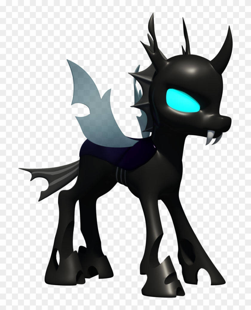 Changeling 3d Model By Clawed-nyasu - Mlp Changeling 3d Model - Free