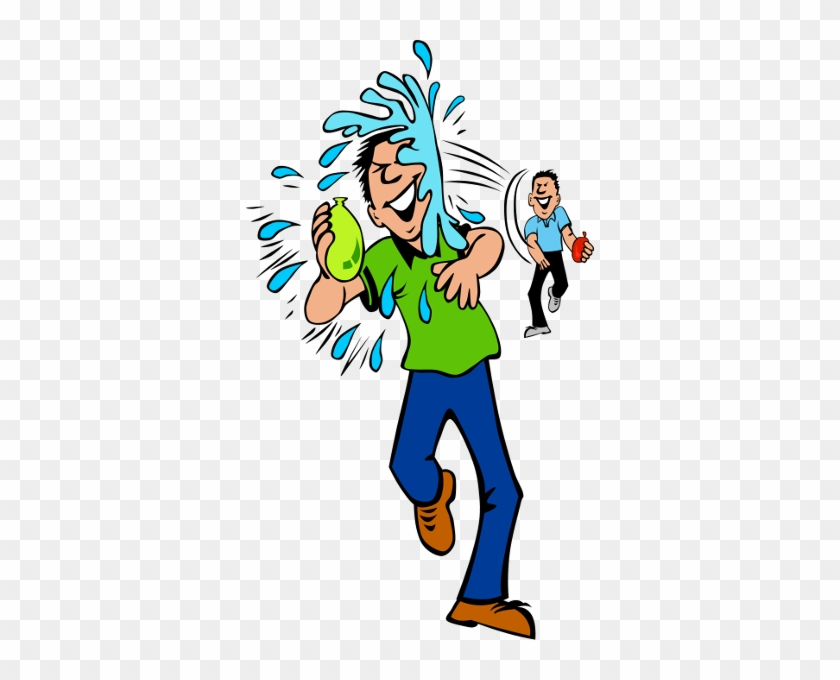 One Of My Favorite Things To Do In This Kind Of Heat - Water Balloon Fight Clipart #743905