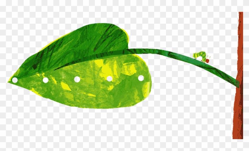 Pin Caterpillar Egg Clipart - Very Hungry Caterpillar Leaf #744220