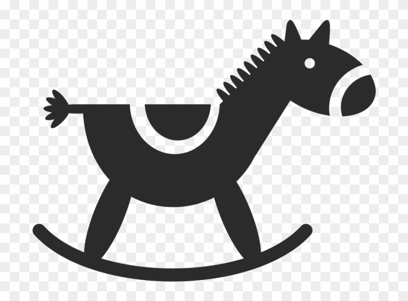 Rocking Horse Wall Decal - Car Stickers Baby Rocking Horse Sticker #744441