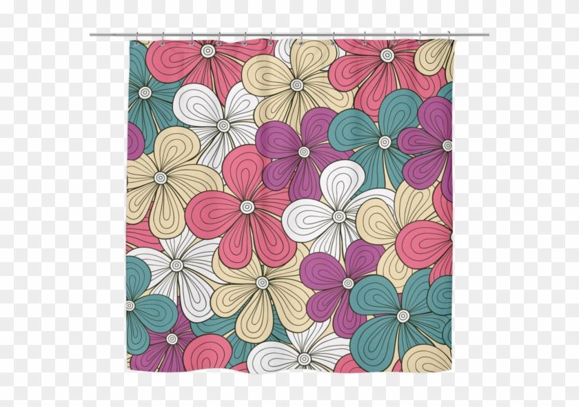 Vibrant Flowers Shower Curtain 70 X - Hawaiian Hibiscus #744899