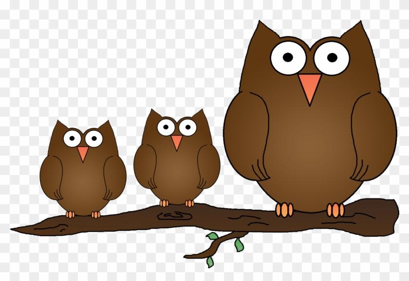 Owl Clipart Image Wise Old Owl Cartoon Owl On A Tree - Cartoon #745083