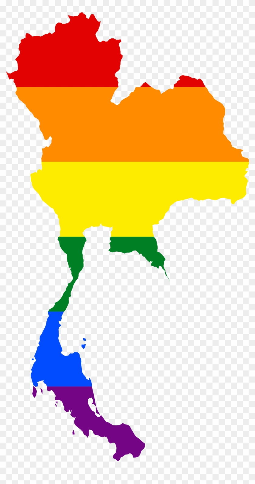 Lgbt Rights In Thailand - Vector Map Thailand - Free Transparent PNG ...