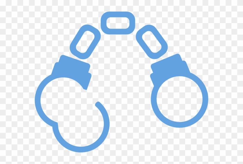Handcuffs Light Blue Cartoon Clip Art At Clker - Handcuffs Cartoon #745840