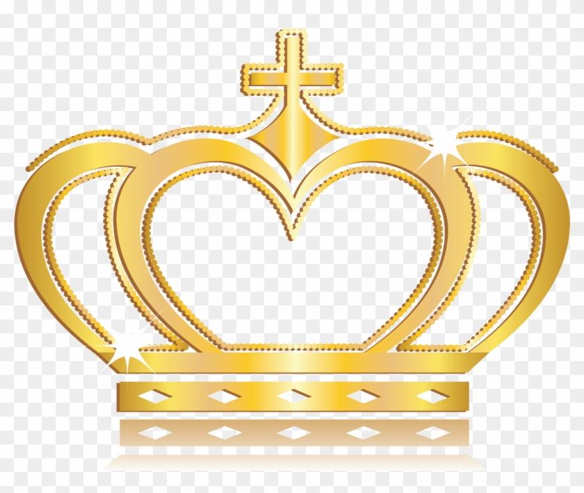 Vector Gold Crown - Queen's Gold Queen Crown Clipart #745981