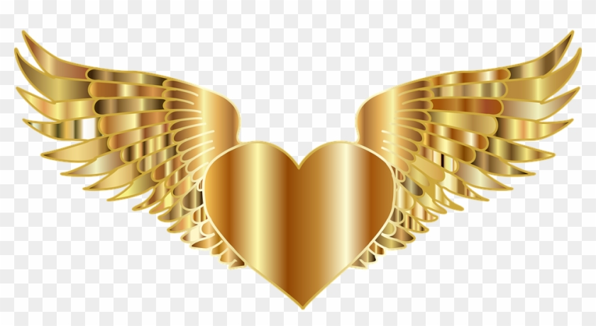 Glitter Crown Cliparts 10, Buy Clip Art - Gold Heart With Wings #745985