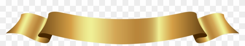 Ribbon Clipart Beige - Gold Banner Ribbon Png #745999