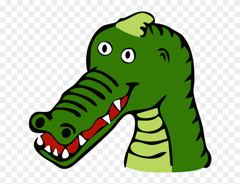 Crocodile Clipart Carnivore Pencil And In Color Crocodile - Custom Cartoon Alligator Mugs #746115