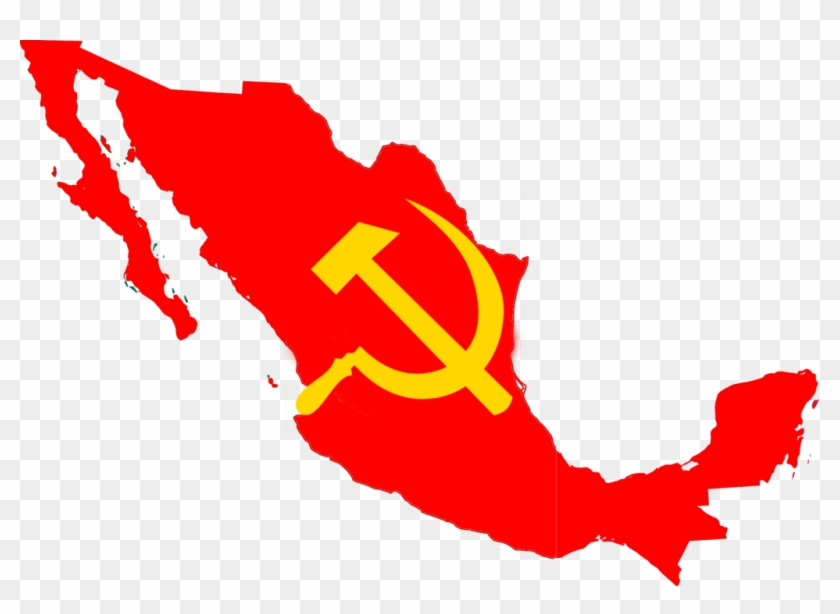 Flag Map Of The Mexican Soviet Socialist Republic By Mexico Map