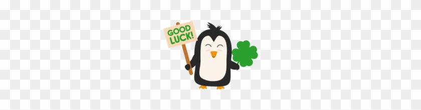Good Luck Penguin - Irish Penguin With Shamrock Cjib4 Beach Towel #746242