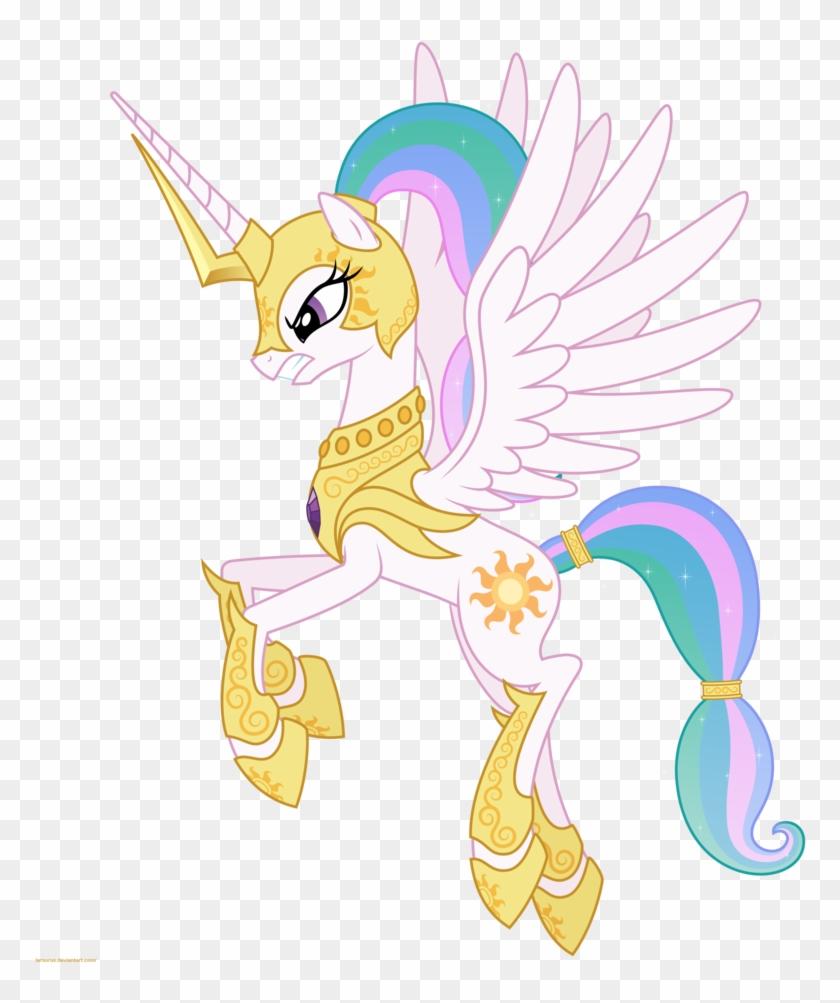 Celestia In Armor My Little Pony Princess Celestia Awesome